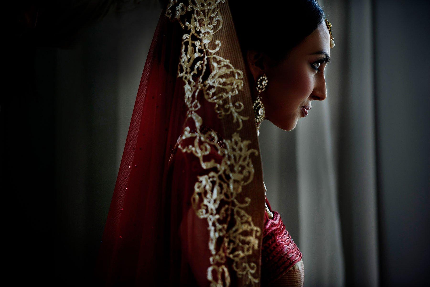 South Asian Bride by Maloman Studios