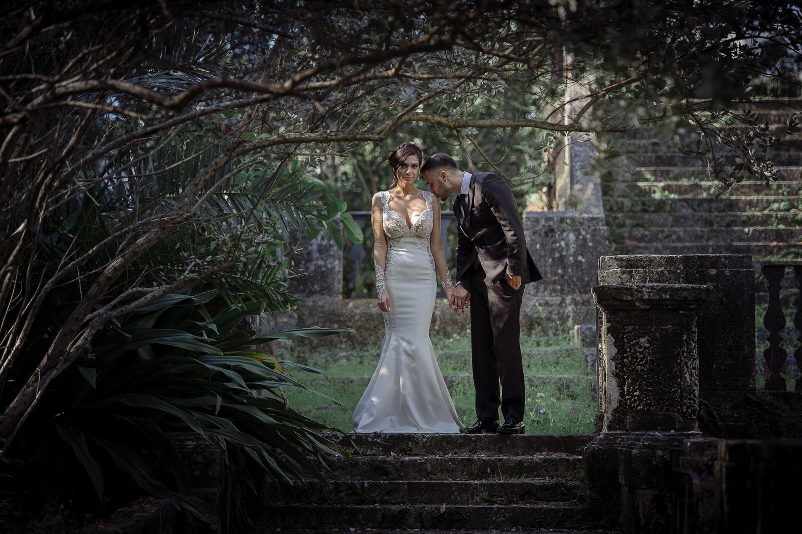 Bride and Groom at Vizcaya