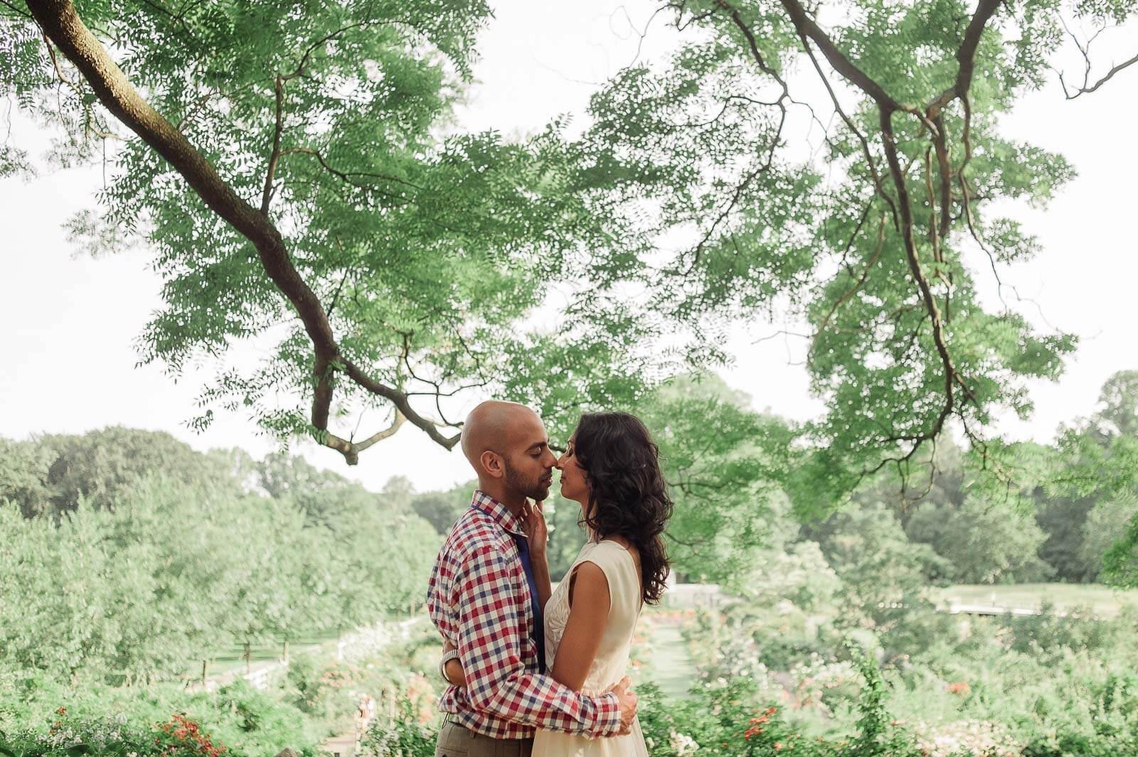 Brooklyn Botanical Gardens Engagement Photos