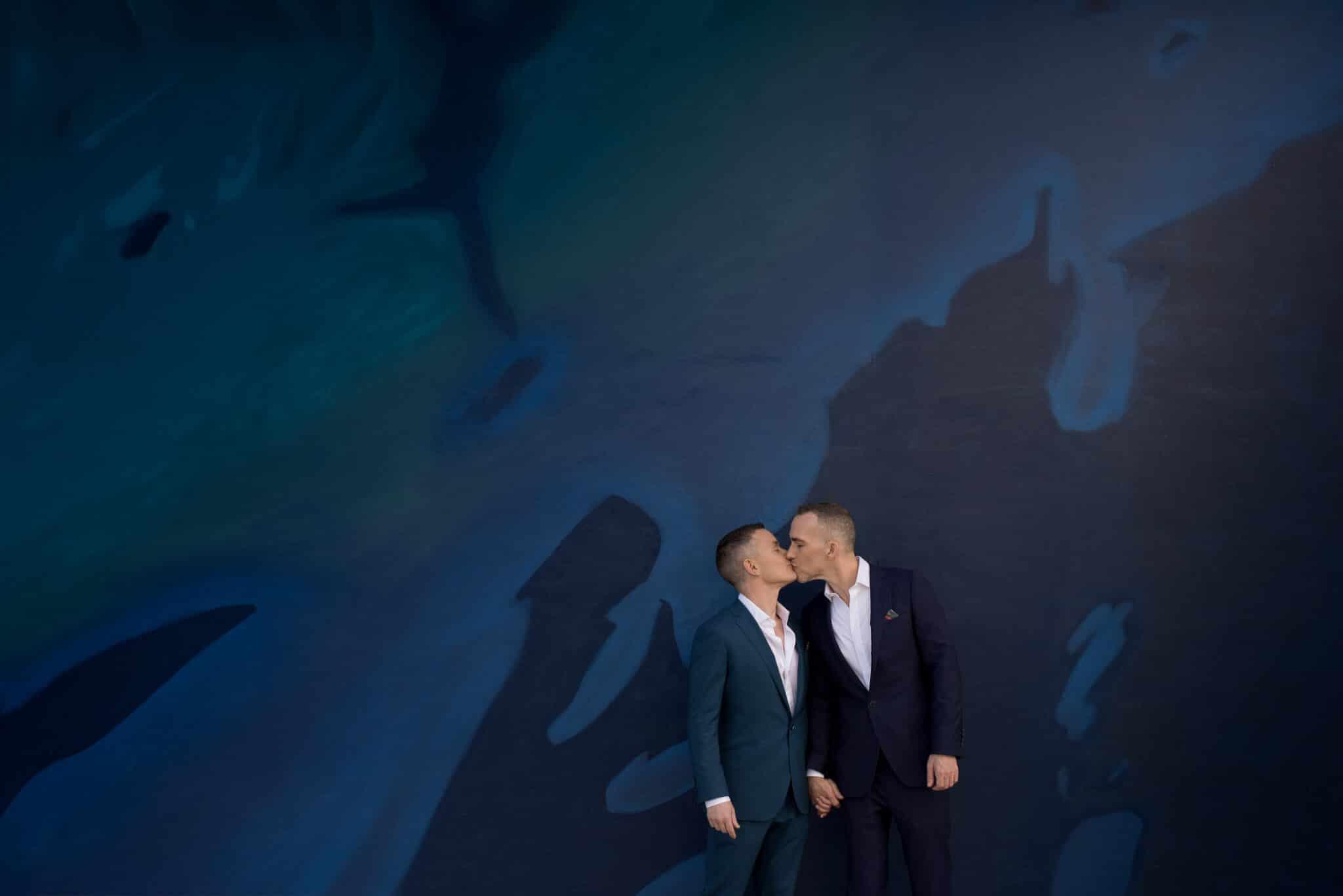 Stylish Gay Miami Rooftop Wedding Photos