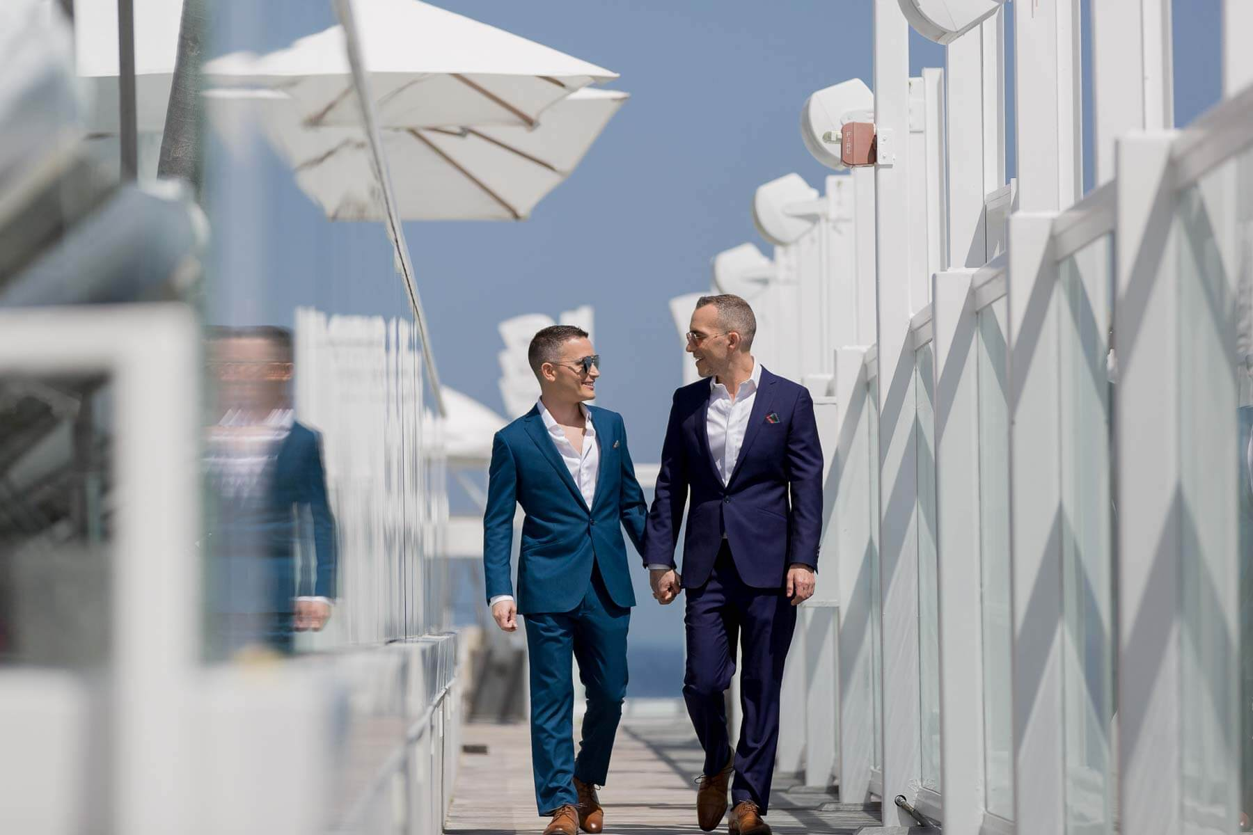 Stylish Gay Miami Rooftop Wedding